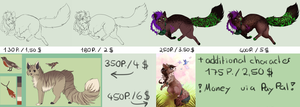 Commission prices by Iscora