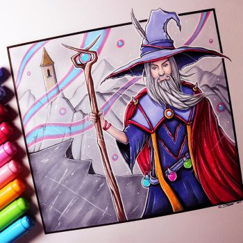 Wizard Drawing by LethalChris