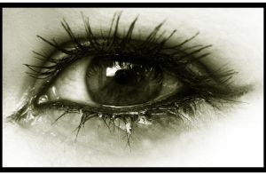 My crying eye by MaggieBebbe