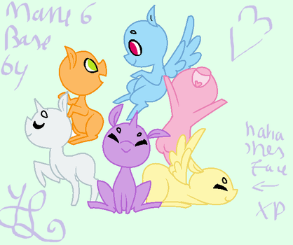 MLP mane six chibi base by Liliana014