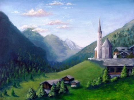 Landscape - Oil Painting by ticibr