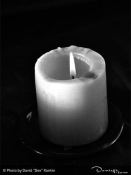 Black and White Candle by Doverge
