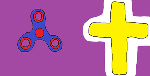 A Fidget Spinner Praying To A Cross by ChristianLPT