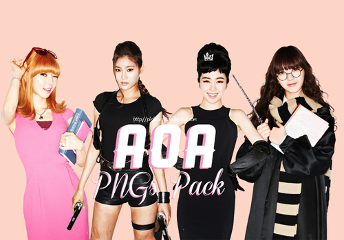 AOA (Ace Of Angels) PNGs Pack by PinkCarrot