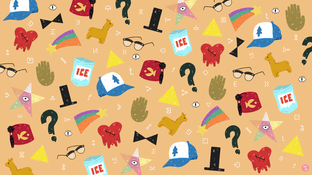 Gravity Falls Pattern Wallpaper by delaudid