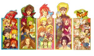 Anime Bookmarks by ync
