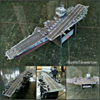 CVN-65 Enterprise Papercraft by rillocrafter21