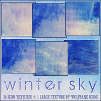 Winter Sky Texture Set by jordannamorgan