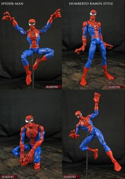 Custom Humberto Ramos Spider-man figure by Jin-Saotome