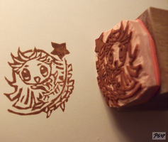 Menma Custom Stamp by Yarn-and-Ink