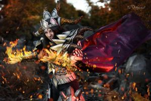 Female DeathWing Cosplay by SanguinariusCosplay