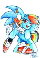 Sonic and Rainbow by banifi
