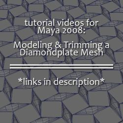 Maya Tutorial: Diamondplate by smudgedcat