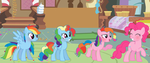 MLP RainbowPie Family by DrawingwithBleona
