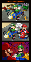 Luigi's Death Stare by The-Quill-Warrior