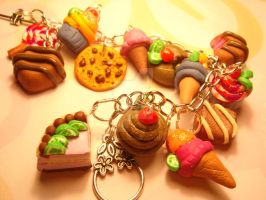 Sweet charm bracelet by colourful-blossom