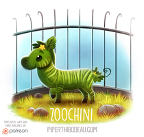Daily Paint 1532. Zoochini by Cryptid-Creations