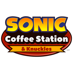 Sonic Coffee Station And Knuckles Logo by NuryRush