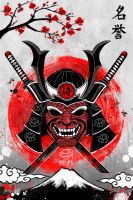 Samurai - Original Art - Japan Collection by Ruby--Art