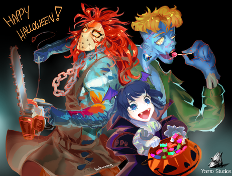 Trick-or-Treating Yamo-Style by whizafriz