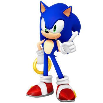 Sonic Funko Pop Figure pose based Render by Nibroc-Rock