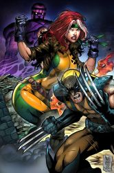 Wolverine and Rogue by TeoGonzalezColors