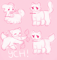 CLOSED SPECIES AND FELINE/CANINE YCH fundraising! by barafrog