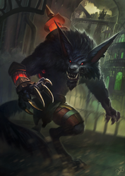 League of Legends: Warwick by jylgeartooth