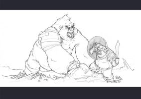 Pig Vs Gorilla by K-litos