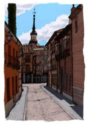 Calle del Tinte by ChemaIllustration