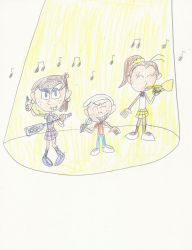 AT: Lincoln, Luna and Luan Music Band by mastergamer20