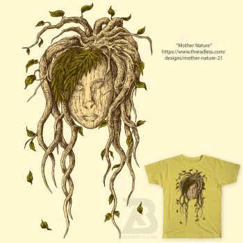 Mother Nature Threadless Tshirt by beanarts