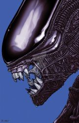 Xenomorph Alien Movie Art by quasilucid