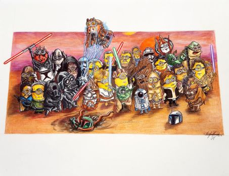 If Minions were STAR WARS Characters by OMKDrawings