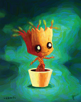 Dancing Baby Groot by Fedrick