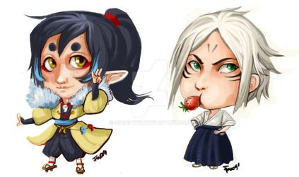 Ama chibis by oneoftwo