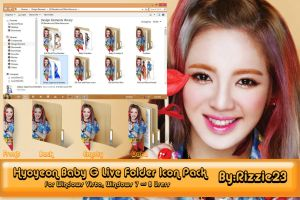 Hyoyeon Baby G Live Folder Icon Pack by Rizzie23