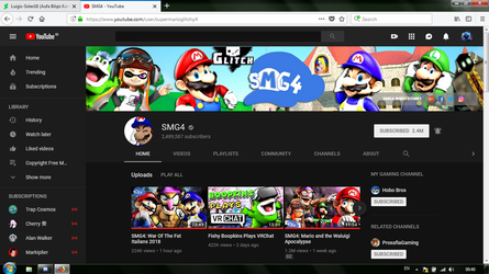 THE CHANNEL BANNER CAME BACK TO NORMAL!!! by Luigis-Sister18