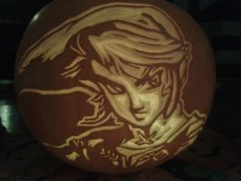 Pumpkin Carving - Link Twilight Princess by YMGxo