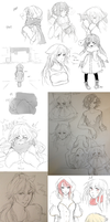 End of the 2012 art doodles by celiere