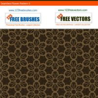 Free Vector Seamless Flower Pattern by 123freevectors