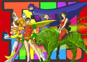 Teen Titans Color by masked-ramen