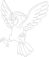 Lineart of Pidgeotto