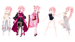 MMD Model Pack: TDA UNI Pack by K-Manoc1