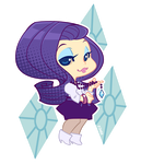 MLP Gijinka: Rarity by zimra-art