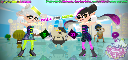 Callie and Marie || MMD DOWNLOAD by o-NOVA-o