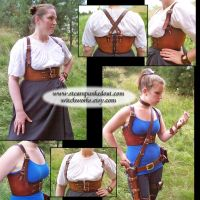 Antiqued Brown Harness by Steampunked-Out