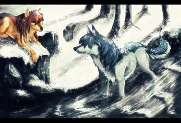 .Ame and Yuki. by Snow-Body