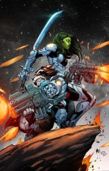 Rocket And Gamora by TeoGonzalezColors