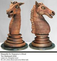 Maquette for Kasparov's Ghost by timwetherell